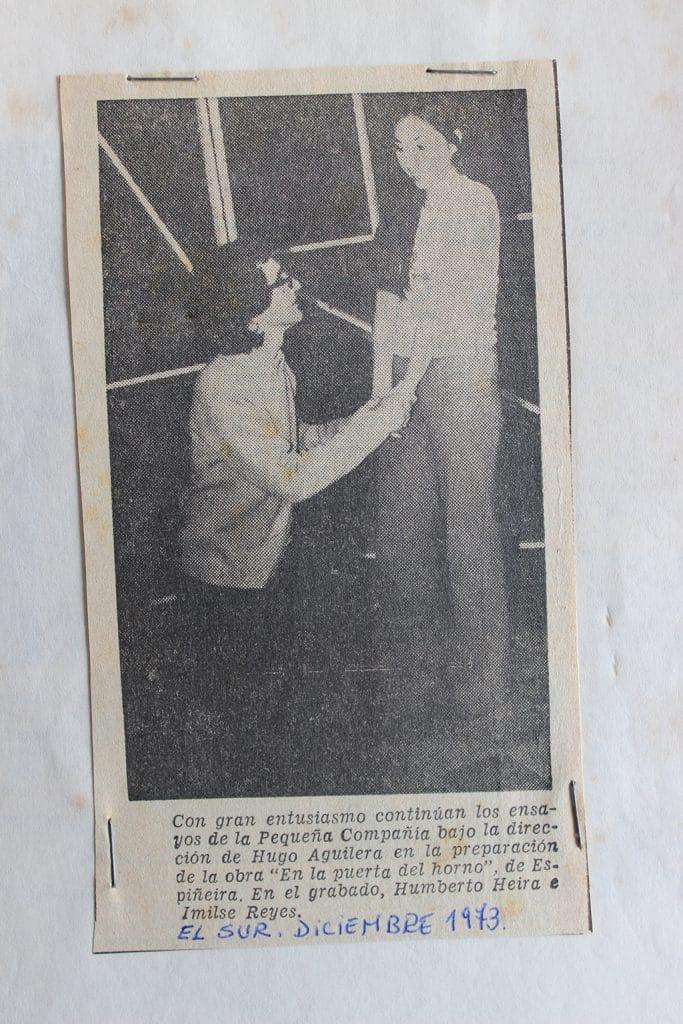 1973 - En la puerta del horno - diciembre - Gentileza de Humberto Neira