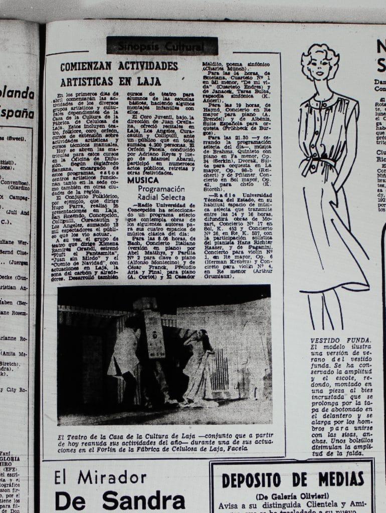 1976 - Grupo de teatro de la Casa de la cultura de Laja - El Sur 15 de marzo