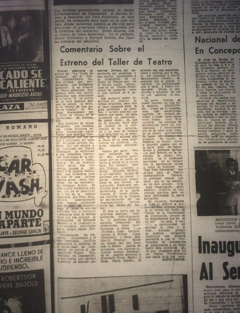 1977 - Sueño de una noche de verano - El Sur 21 de noviembre