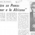 1978 - Amor a la africana - El Sur 21 de octubre - Biblioteca Nacional