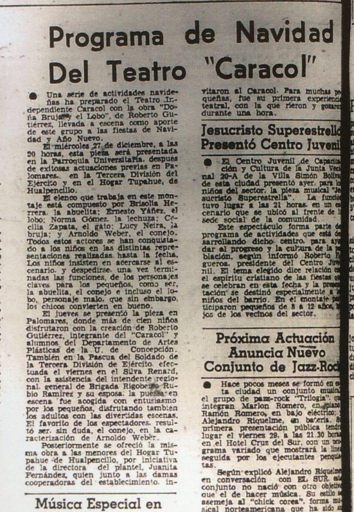 1978 - Doña bruja y el lobo - El Sur 24 de diciembre