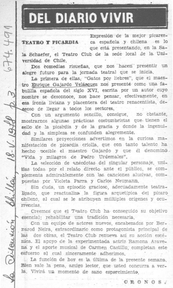 1978 - Gatos por liebres - La Discusión 18 de mayo - Biblioteca Nacional