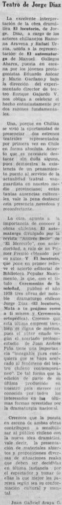 1979 - El Locutorio - La discusión 23 de diciembre - Biblioteca Nacional