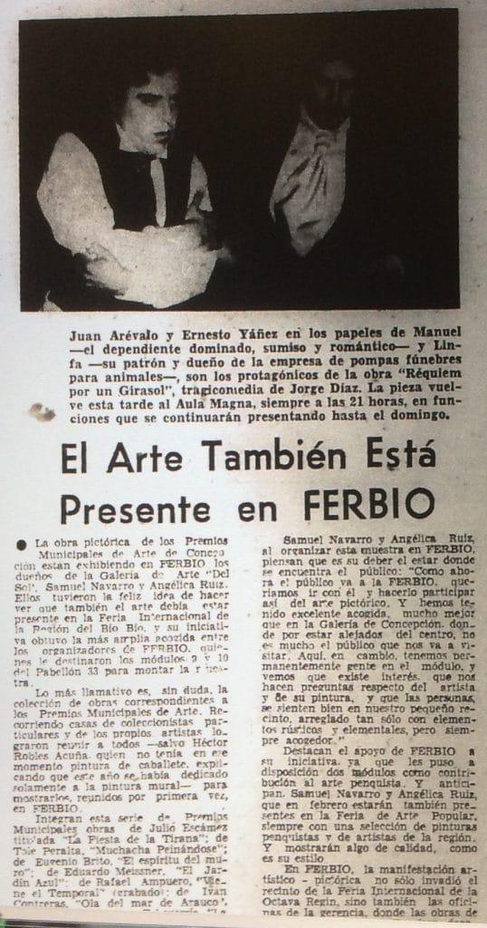 1979 - Réquiem por un girasol - El Sur 23 de enero
