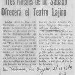 1979 - Tres noches de un sábado - La tribuna 27 de septiembre - Biblioteca Nacional