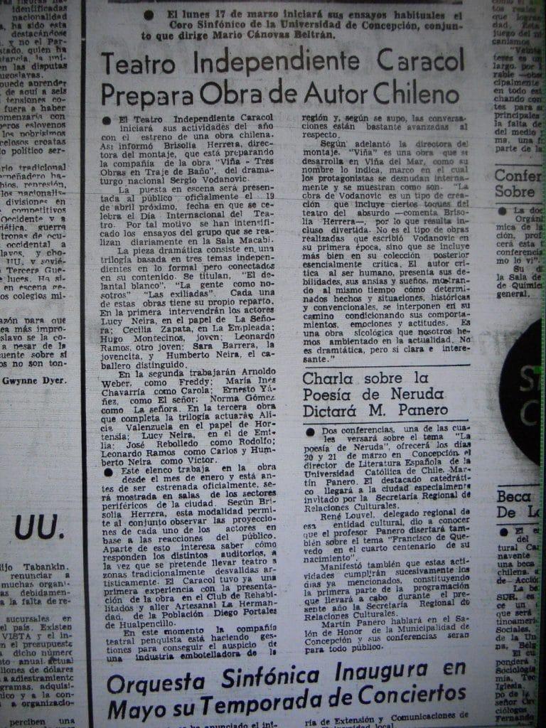 1980 - Viña - El Sur 06 de abril