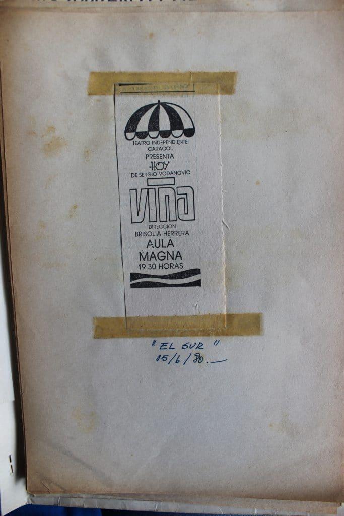 1980 - Viña - El Sur 15 junio 1980 - Gentileza de Humberto Neira