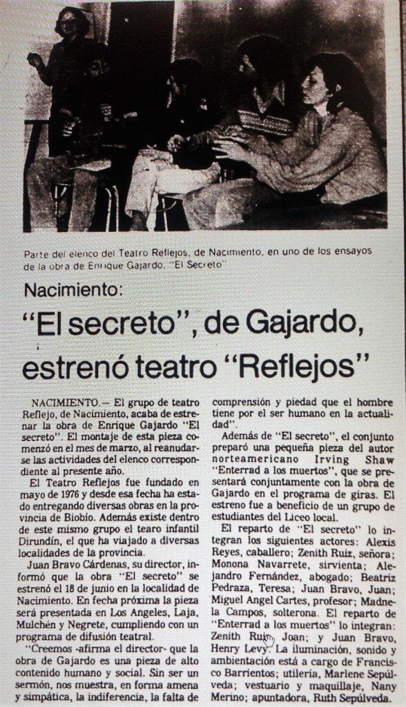 1981 - El secreto - El Sur 30 de junio