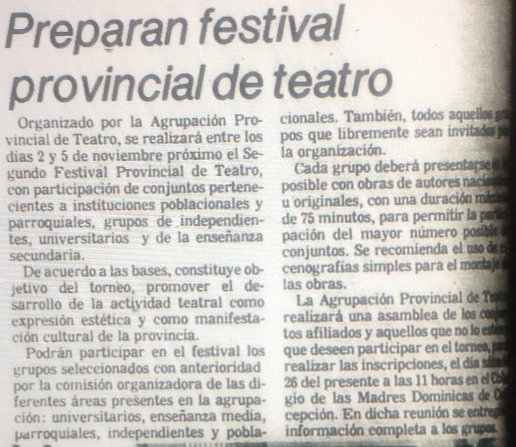 1981 - Lecho Nupcial - El Sur 27 de septiembre
