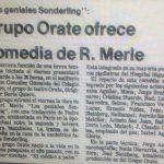 1981 - Los Geniales Sonderlin - El Sur 13 de diciembre