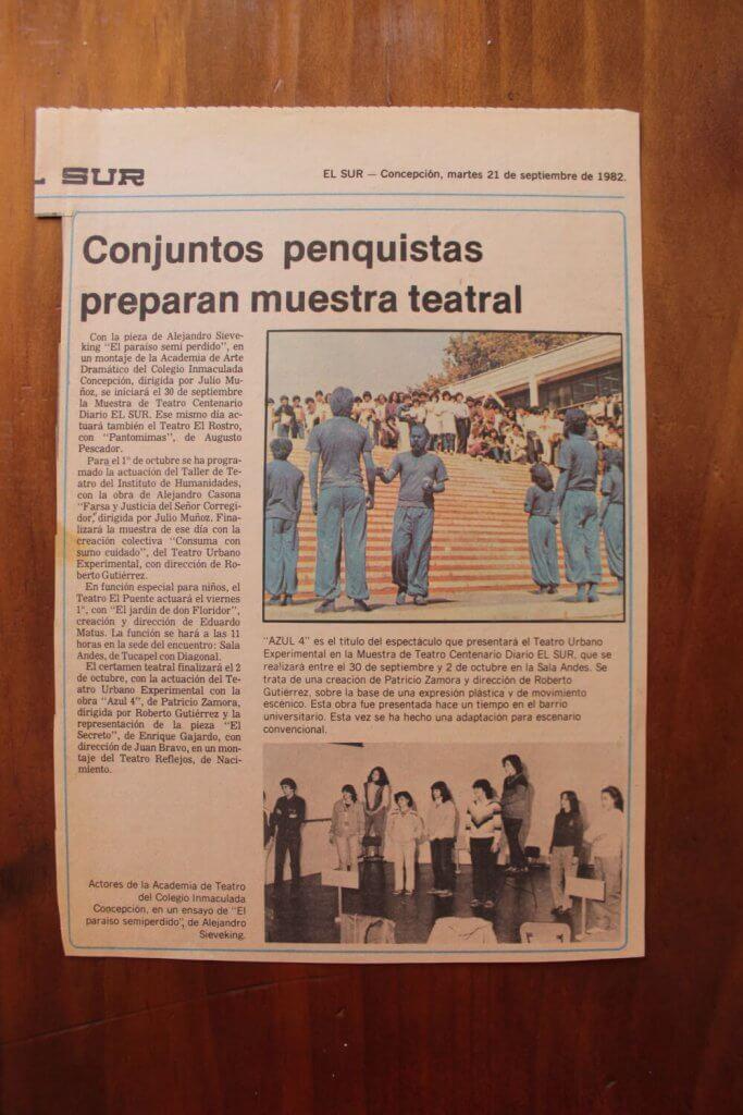 1982 - Azul 4 - El Sur 21 septiembre - Gentileza de Juan Bravo