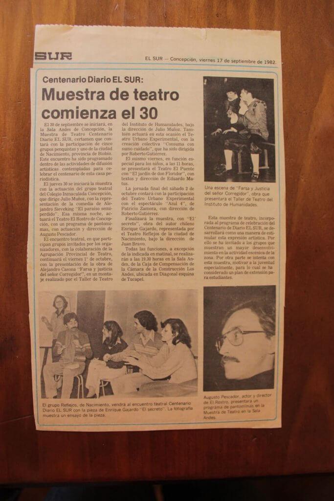 1982 - El secreto - El Sur 17 de septiembre - Gentileza de Juan Bravo