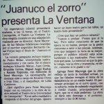 1982 - Juanuco el zorro - El Sur 27 de noviembre