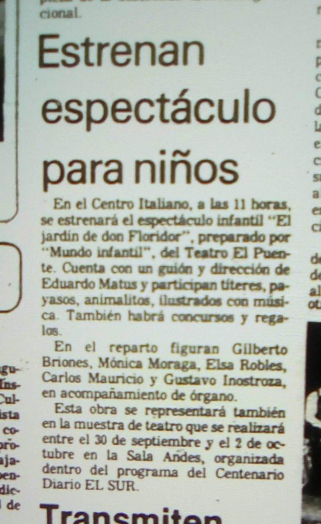 1982 - Mundo infantil - El Sur 17 de septiembre