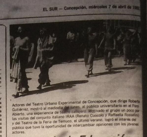 1982 - Teatro callejero - El Sur 7 de abril