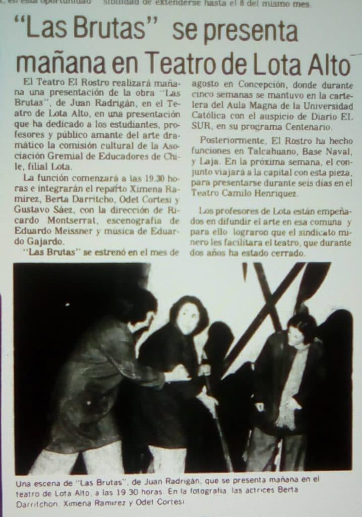 1982 - Las brutas - El Sur 28 de noviembre