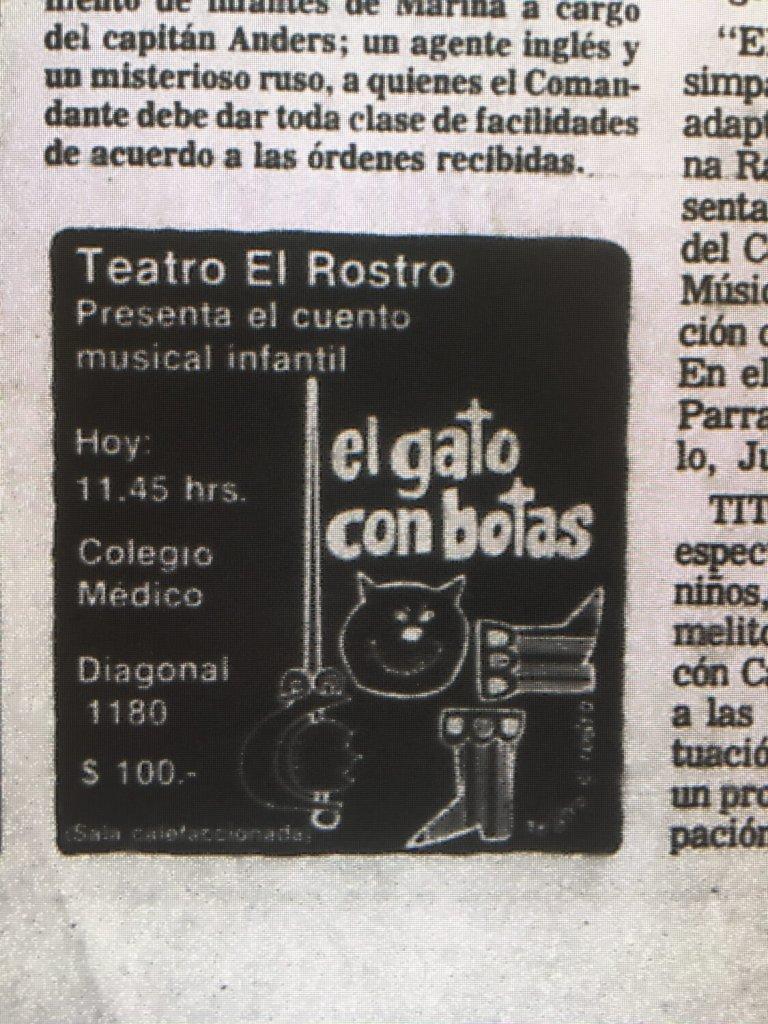 1983 - El gato con botas - El Sur 19 junio