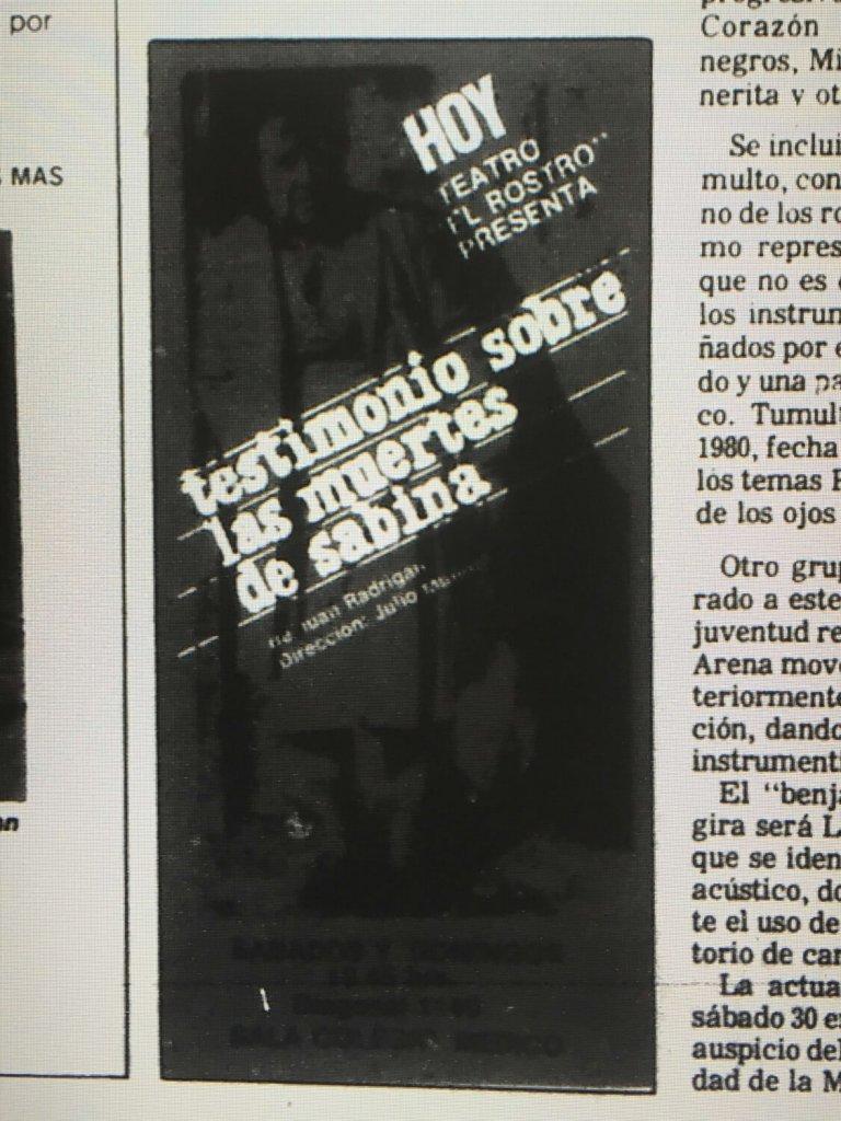 1983 - Testimonio sobre la muerte de Sabina - El Sur 16 julio