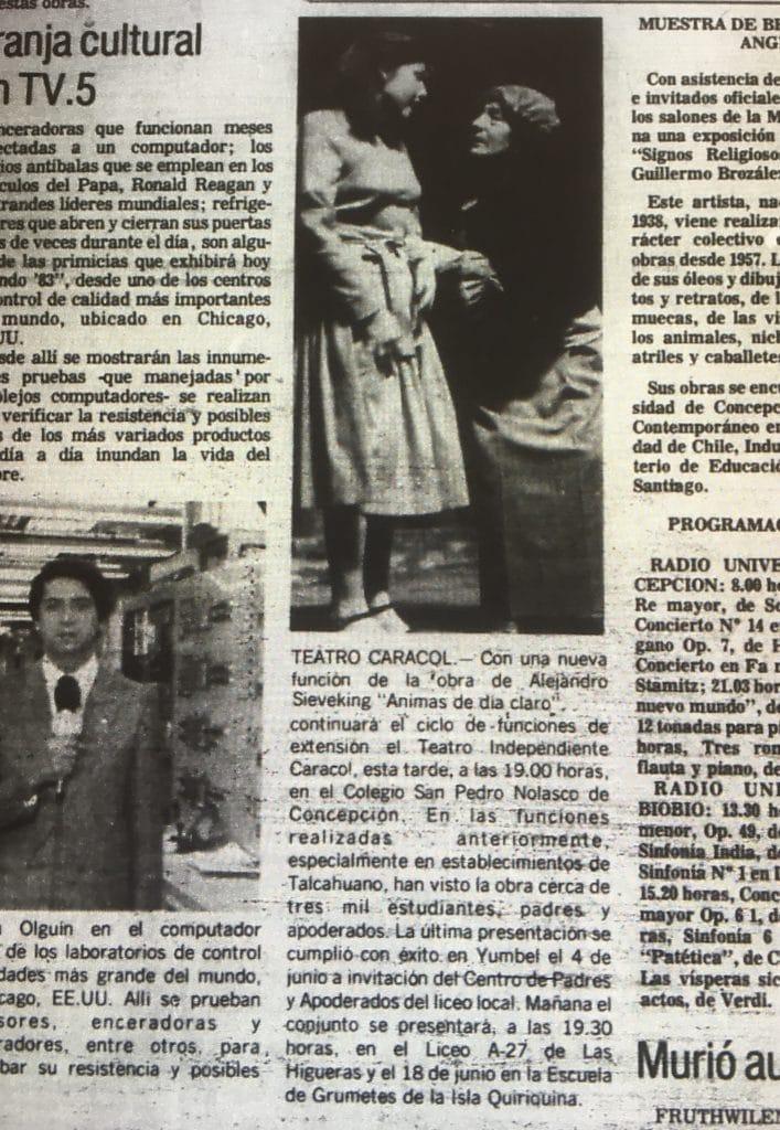 1983 - Ánimas de día claro - El Sur 09 de junio