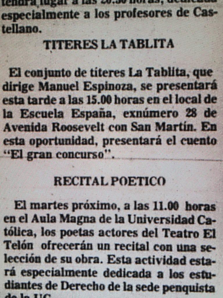 1983 - El gran concurso - El Sur 09 de abril