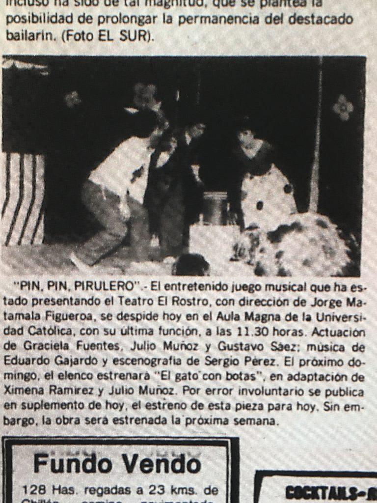 1983 - Pin pin pirulero - El Sur 17 de abril