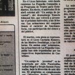 1983 - Taller a cargo de La Pequeña Compañía - El Sur 06 de mayo