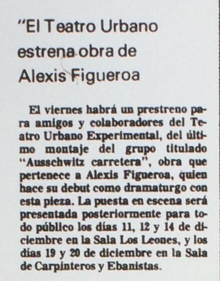 1986 - Auschwitz carretera - El Sur 26 de noviembre