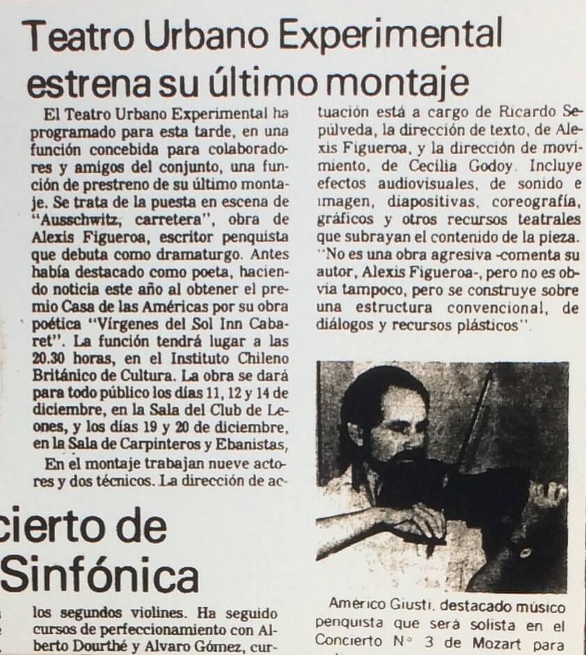 1986 - Auschwitz carretera - El Sur 28 de noviembre