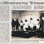 1986 - El inocente - El Sur 25 de noviembre