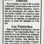 1986 - Pinocho - El Sur 29 de junio