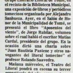 1986 - Veraneando en zapallar - Un amigo de juventud - El Sur 30 de septiembre