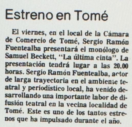 1986 - La última cinta - El Sur 06 de agosto