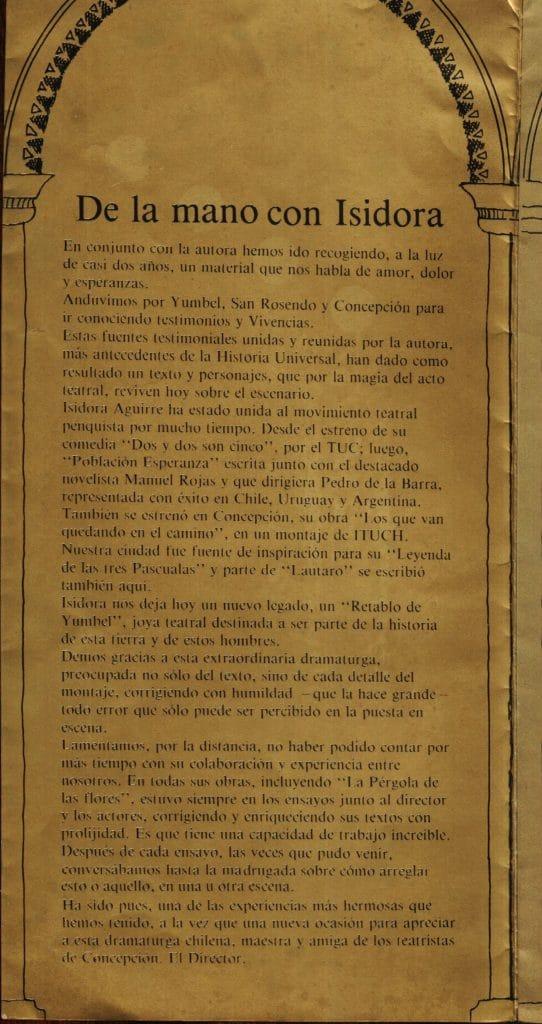 1986 - Retablo de Yumbel - Interior presentación - Gentileza de Compañía de Teatro El Rostro