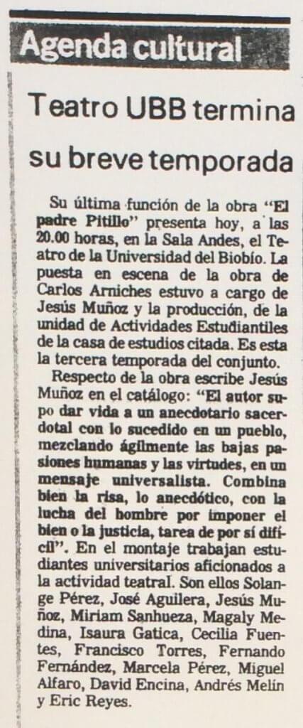 1987 - El padre pitillo - El Sur 10 de septiembre