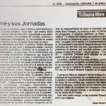 1987 - Jornadas Tomecinas - El Sur 7 de enero