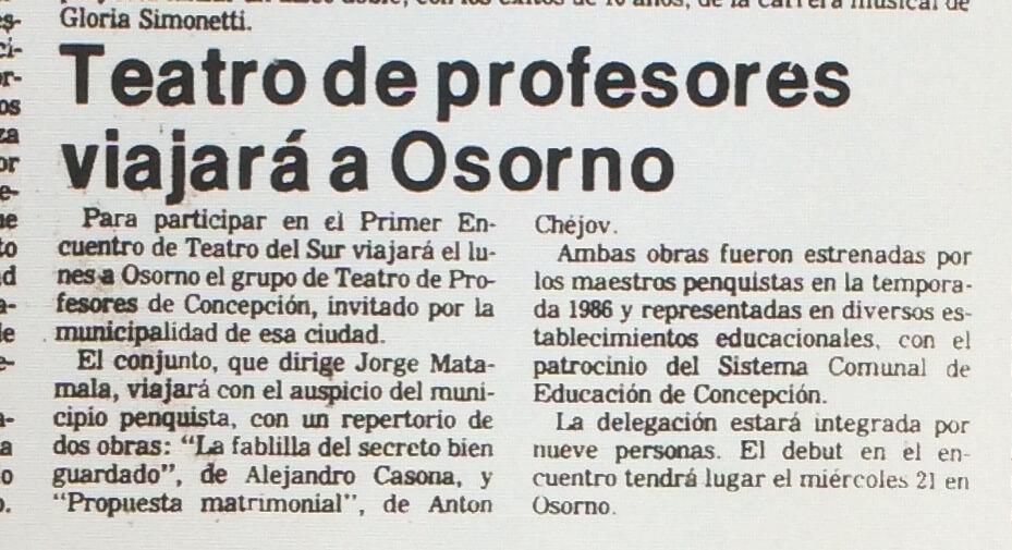 1987 - La propuesta matrimonal - La fablilla del secreto bien guardado - El Sur