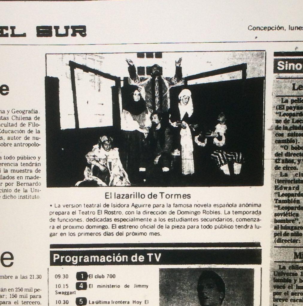 1987 - El lazarillo de Tormes - El Sur 17 de agosto