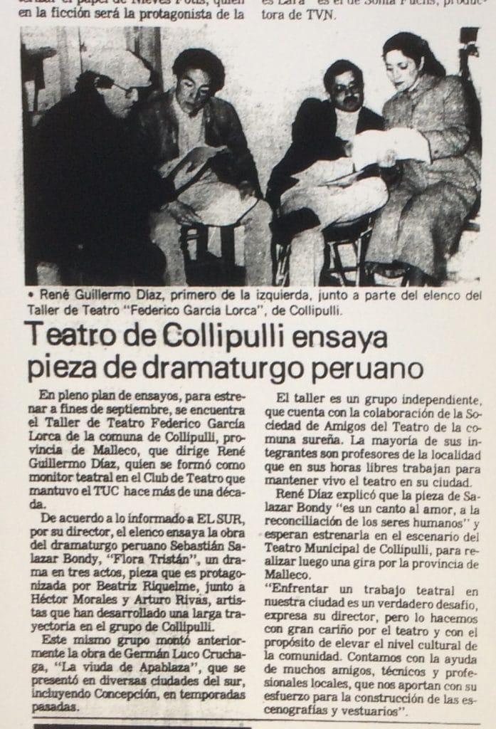 1987 - Flora Tristán - El Sur 8 de agosto