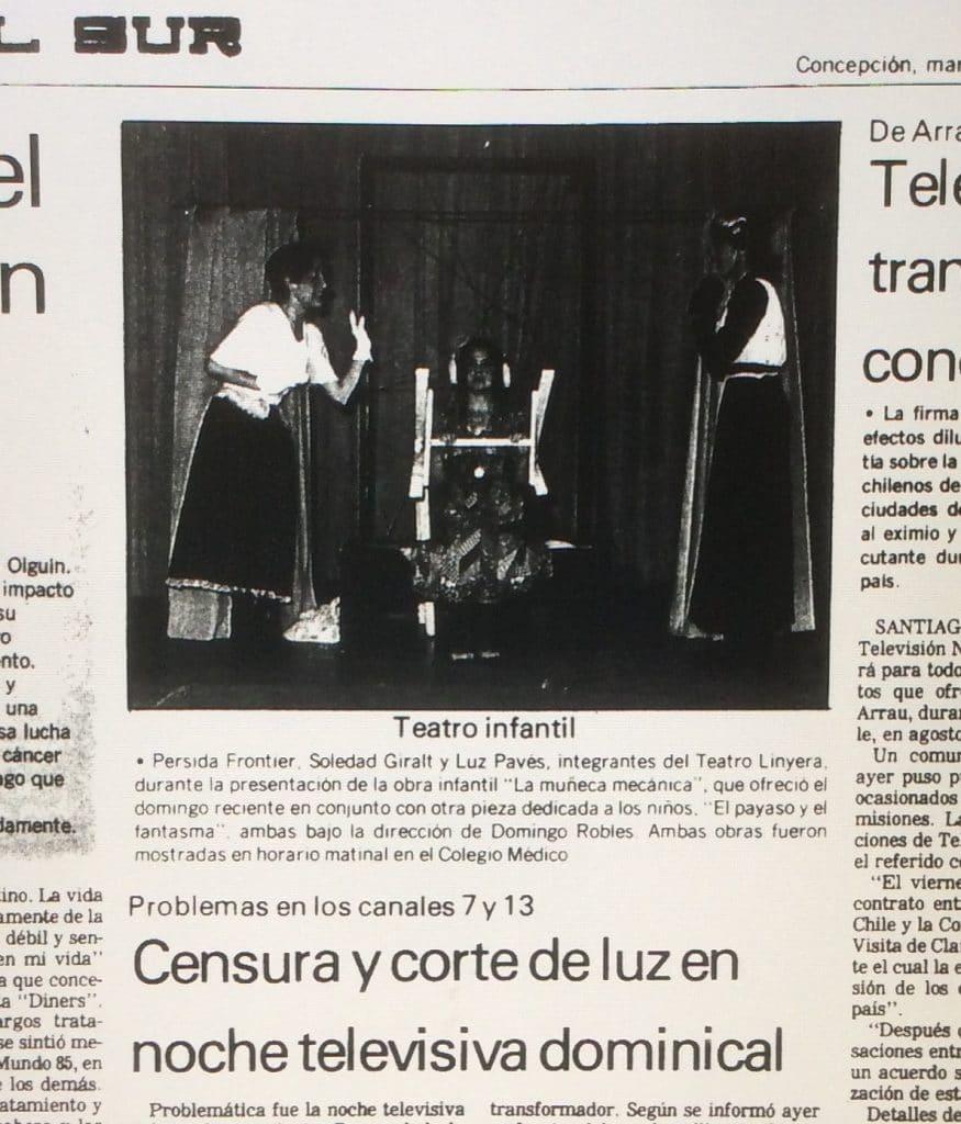1987 - La muñeca mecánica - El payaso y el fantasma- El Sur 28 de julio