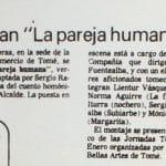 1987 - La pareja humana - El Sur 16 de enero