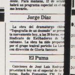 1987 - Topografía de un desnudo - El Sur 11 de octubre