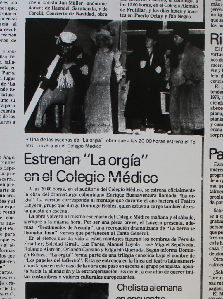 1988 - La orgía - El Sur 24 de enero