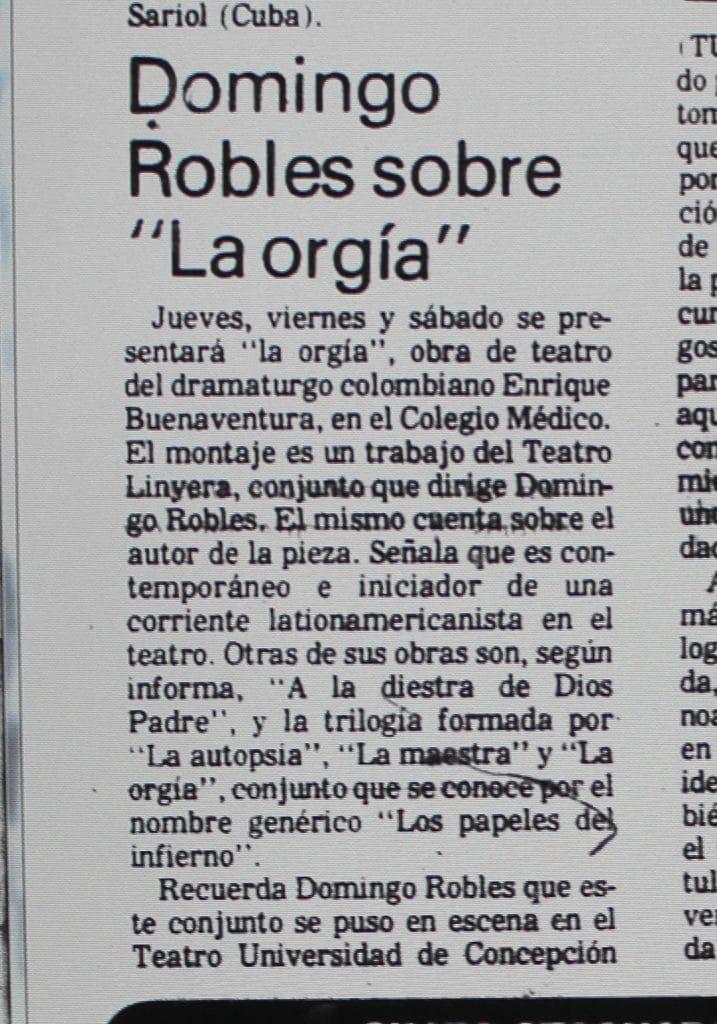 1988 - La orgía - El Sur 25 de enero