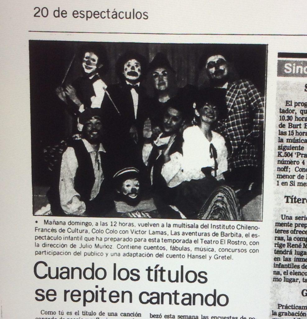 1989 - Las aventuras de barbita - El Sur 27 de mayo