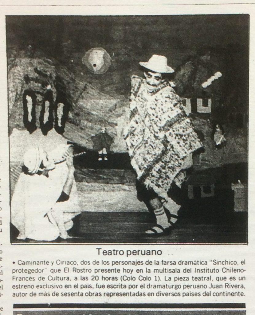 1989 - Sinchico el protegedor - El Sur 10 de septiembre