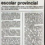 El Sur 1987. Festival de teatro escolar provincial en Escuela D- 549 en Concepción e Iglesia Mormona de Penco