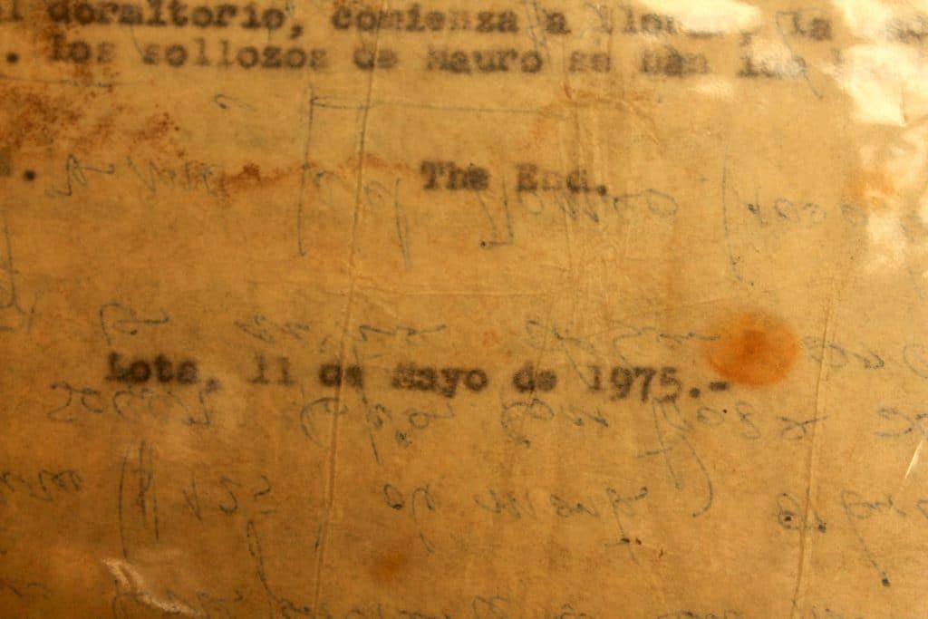 Texto Las redes del mar - Última hoja - Gentileza de Susana Heredia