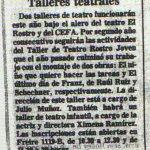 1986 - Talleres teatrales - El Sur