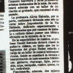 1986 - Talleres y cursos en CEFA - El Sur