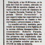 1987 - Cierre de la Cuarta Escuela Héctor Duvauchelle - El Sur